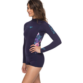 Roxy 2/2 Syncro Series Spring FLT Back Zip Long Sleeve Wetsuit Women Blue Ribbon